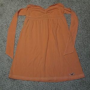 HOLLISTER M orange strapless top